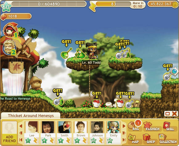 MapleStory Adventures treasures